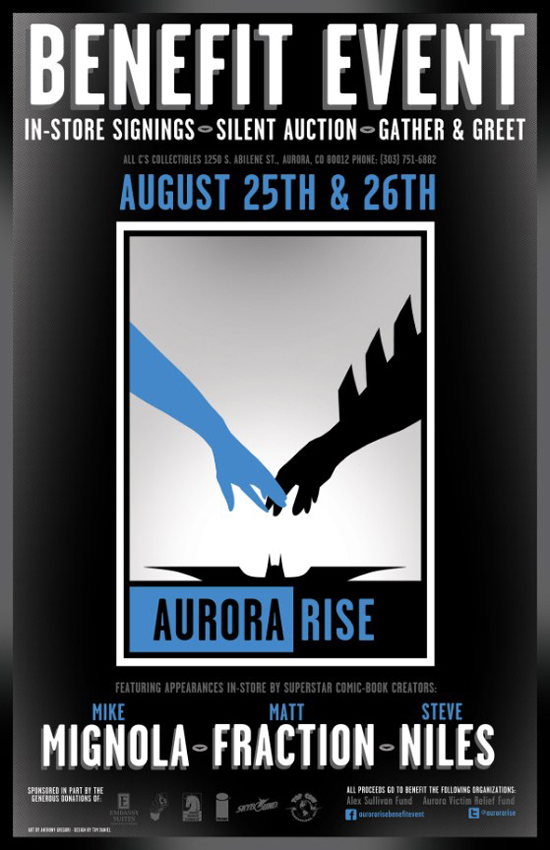 Aurora Shooting Benefit Aurora Rise Benefit Event August 25th & 26th