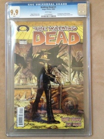 The Walking Dead 1 CGC 9.9 Walking Dead #1 Fetches $10,100 on eBay
