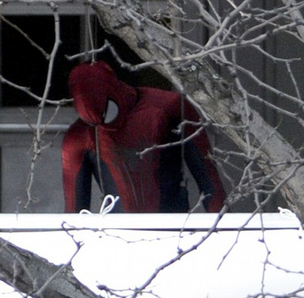 Amazing Spider Man 2 Set Photo 3 600x588 Amazing Spider Man 2 First Set Photos