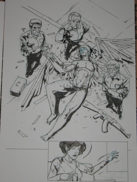 Riley Rossmo Original Art Bedlam 6 1 450x600 Riley Rossmo Original Artwork   Bedlam