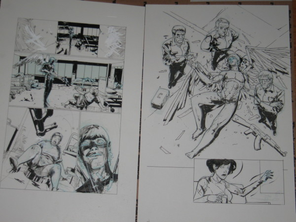 Riley Rossmo Original Art Bedlam 6 3 600x450 Riley Rossmo Original Artwork   Bedlam