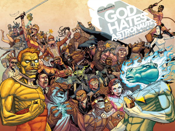 God Hates Astronauts CoverSpread Ryan Browne 600x450 Ryan Browne   The Creative Mind behind God Hates Astronauts & Bedlam