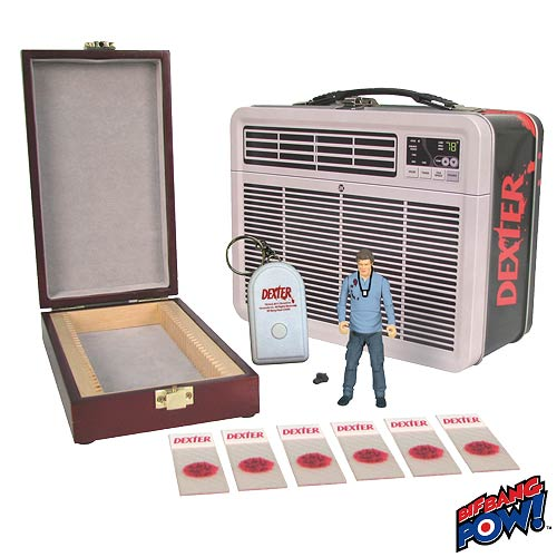 SDCC Exclusive Dexter Figure in Tin Tote Entertainment Earth Begins SDCC Exclusive Countdown