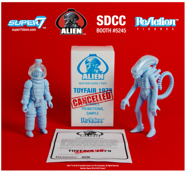 "2013 SDCC Exclusive LIEN REACTION FIGURE 2 PACK ""DISCOVERED SALES SAMPLES"" BIG CHAP & KANE"