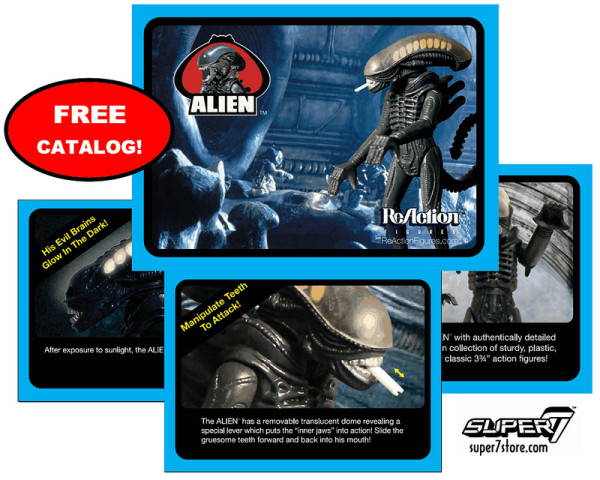 2013 SDCC exclusive ALIEN REACTION FIGURE CATALOG