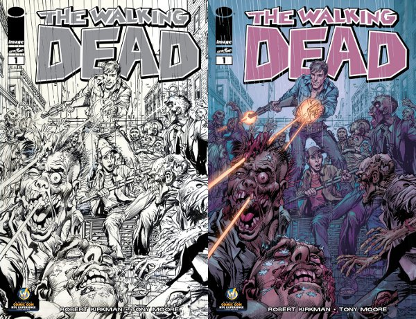 The Walking Dead 1 Neal Adams New York Comic Con Exclusive Legend Neal Adamss Variant Cover of The Walking Dead #1 Debuts at New York Wizard World Comic Con