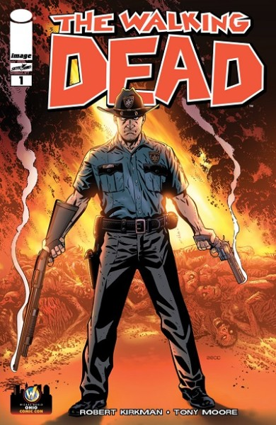 Mike Zeck Variant Cover of Robert Kirkmans The Walking Dead 1 390x600 Mike Zeck Variant Cover of The Walking Dead #1 Debuts at Wizard World Ohio Comic Con
