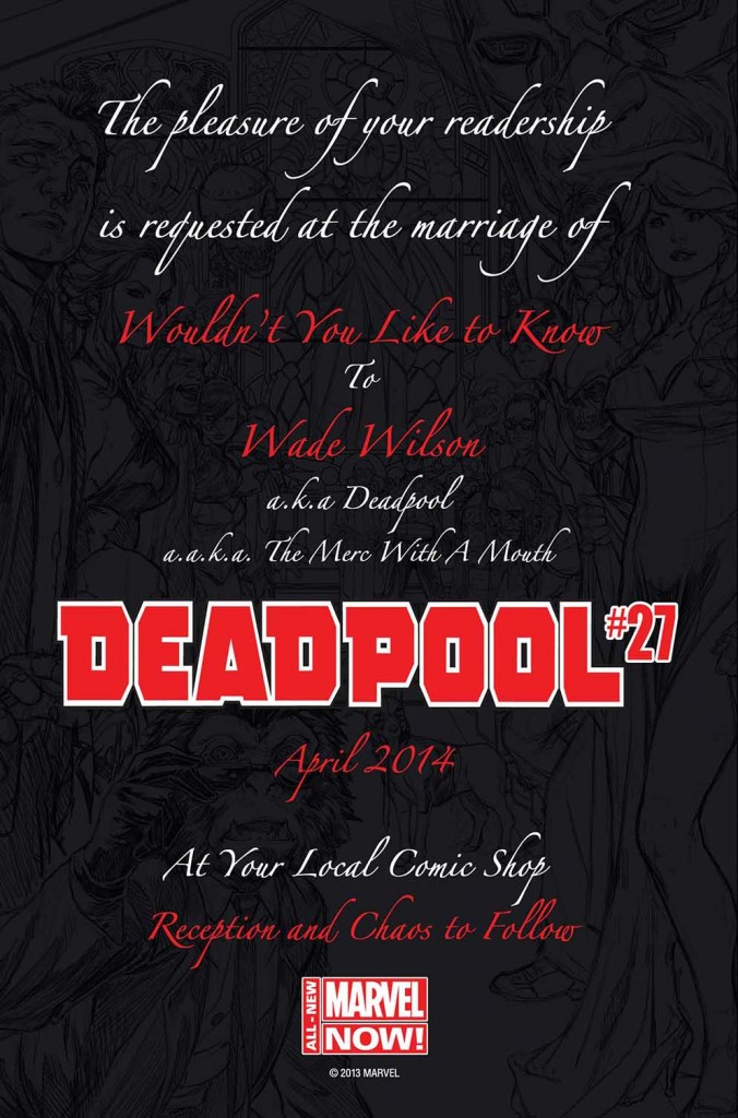 Deadpool 27 Wedding Invitation
