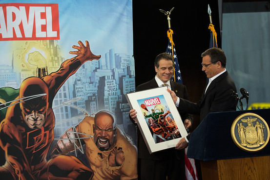 Disney Andrew Cuomo and Robert Iger