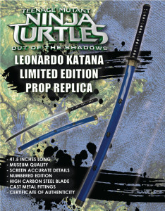 Teenage Mutant Ninja Turtles TMNT Leonardo Katana Prop Replica