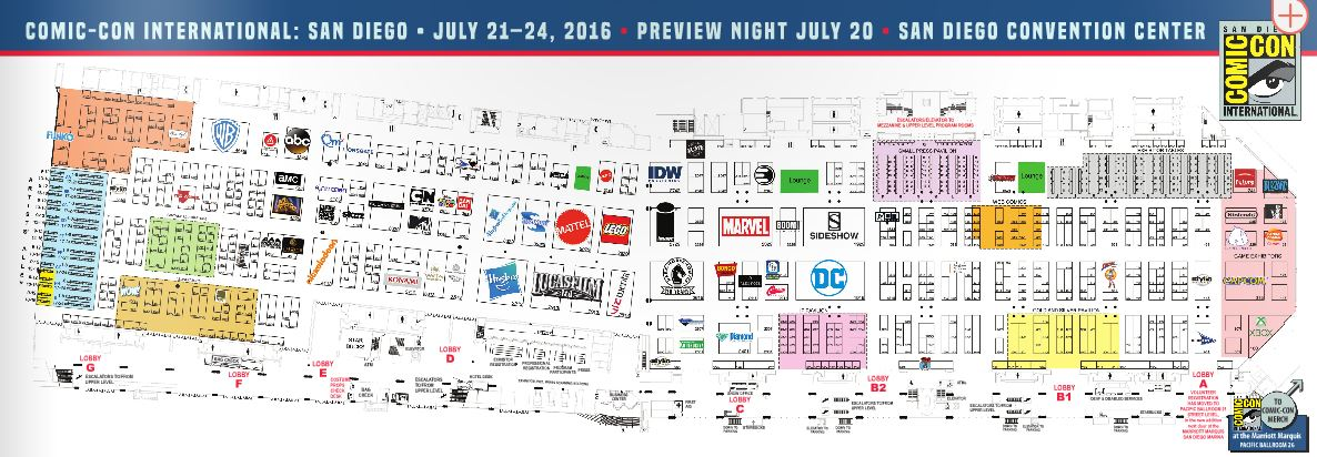 2016 SDCC Exhibitor Map NOW LIVE | Comic Con Blog