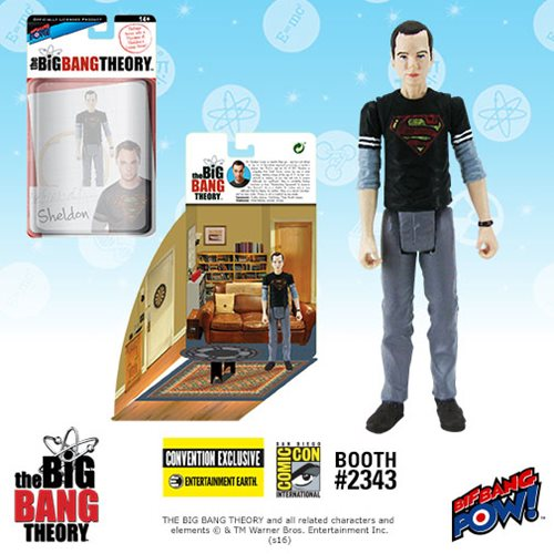 2016 SDCC The Big Bang Theory Sheldon in Black Superman T-Shirt Action Figure