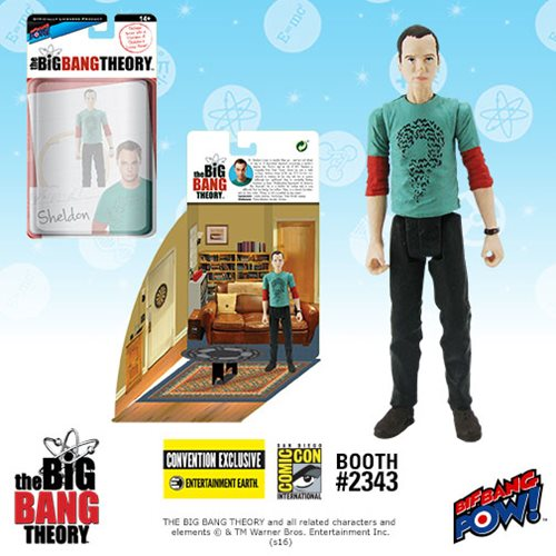2016 SDCC The Big Bang Theory Sheldon in Riddler T-Shirt Action Figure
