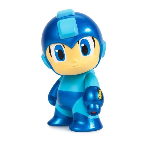 METALLIC BLUE MEGA MAN MINI FIGURE - COMIC CON 2016 EXCLUSIVE