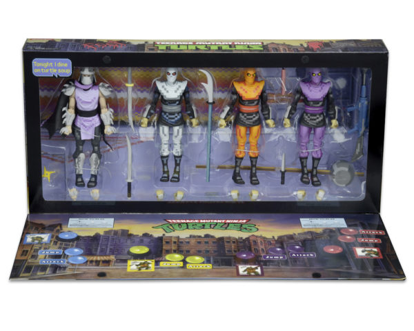 TEENAGE MUTANT NINJA TURTLES - 7 SCALE ACTION FIGURES - ARCADE SHREDDER & THE FOOT CLAN 4 PACK - SDCC 2016 1