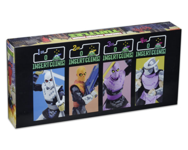 TEENAGE MUTANT NINJA TURTLES - 7 SCALE ACTION FIGURES - ARCADE SHREDDER & THE FOOT CLAN 4 PACK - SDCC 2016 2